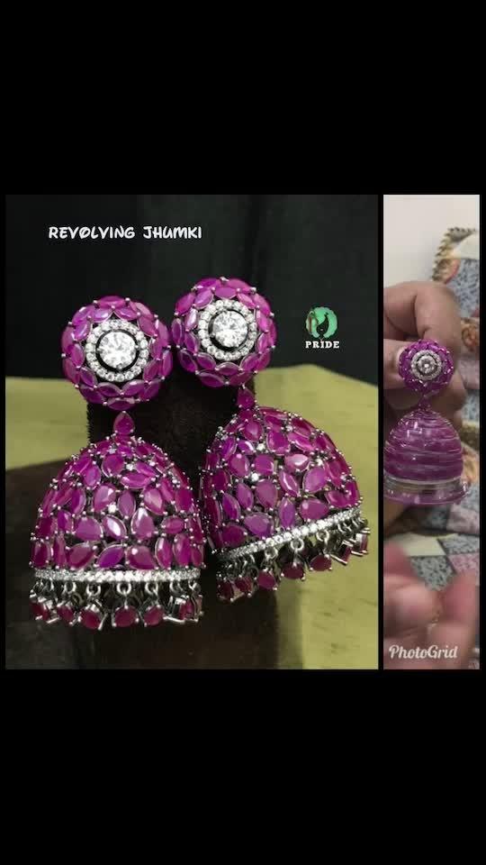 Revolving Jhumki and bracelet in complementary colors go perfect together   #payal #punjabiwedding #earrings #jhumki #chapka #chandbali #dropearrings #neckpiece #newcollection #kundan #kundanjewellery #polki #ad #meenakari #satladahaar #ranihaars #bride #braids #bridal #shopping #punjabi #punjabijewelry #fashion #fashionearrings #fashionblogger #fashionforever