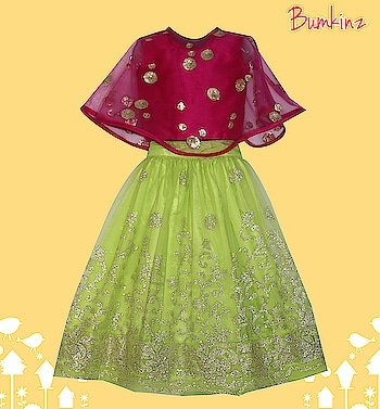 #Cape #Capetop #EmbroideredNet #Partygown #Partywear 💃 #Girls #Designerkidswear  #Kidsfashion #Kidswear  #Instafashion 📸  #Bumkinz  www.facebook.com/Bumkinz