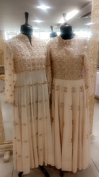 Very rich and intricate embroidery on timeless ivory and dreamy pastels in Kalidars by Saumitra Mondal !! Shop his specially curated collection only at Deval The Multi Designer Store !! For more details please call us at +91 98984 22000 #stylish #designerwear #designercollection #garments #clothing #womenswear #multidesignerstore #designeraccessories #dresses #skds #kurtas #devalstore #ahmedabad #newcollection #latestcollection #devalthemultidesignerstore #luxurydesigner