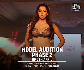 Get ready to ramp walk your way to success because India Intimate Fashion Week is conducting its Model Audition  Phase-2 on 7th April! So don't miss this opportunity, all the budding models as you'll get to be a part of the IIFW Season 2 Show!  Audition registrations will be from 10 AM to 1 PM only. There is no fee for audition registrations. Both Indian & International Models are welcome.  Modeling / Talent Mgmt Agencies can also apply. Minimum Height Requirement: - Strictly 5 feet 7 inches and above Venue : INIFD, MET Campus, 7th Floor, Next to Lilavati Hospital, Bandra. Contact for further details : Anjali : +919028076361 / +918551026503 / iifw2016@gmail.com #IIFW #ModelAuditions #IndiaIntimateFashionWeeks #MUmbai #Models #Lingerie #BeachWear #BIkiniModels