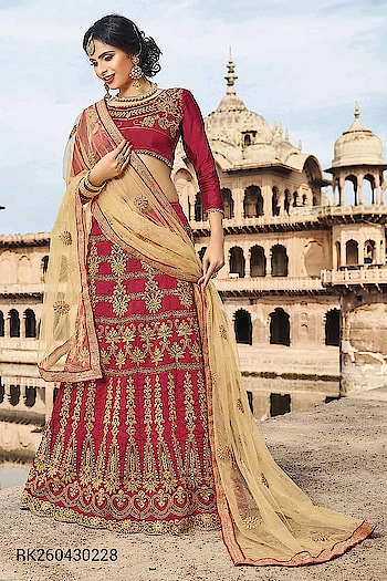 We present our Latest Wedding Wear Lehenga Choli Collection..  http://www.sringaar.com/buy/bridal-wedding-lehengas.aspx  Product : RK2604 http://sringaar.com/SearchProduct.aspx?q=rk2604  #Sringaar #SringaarFashion #WE_DELIVER_WORLDWIDE  Whatsapp No : +91-9971331899 Contact us : +91-9212337921 Email - sales@sringaar.com  Visit Us at: http://www.sringaar.com Facebook : https://www.facebook.com/SringaarOnline Instagram : https://www.instagram.com/sringaarfashion  Fabric of Lehenga - Silk Fabric of Inner of Lehenga - Sattin Fabric of Dupatta - Net Fabric of Choli - Silk Size Available - Bust Size: 44 Inch; Lehenga Waist: 38-40 Inch; Lehenga Length: 45-48 Inch Work - Heavy Zari Embrodiery And Daimond Work  #Lehenga-In-USA #Lehenga-In-UK #Lehenga-In-Sharjah #Lehenga-In-Saudi-Arabia #Lehenga-In-New-York #Lehenga-In-Malaysia #Lehenga-In-Los-Angels #Lehenga-In-Hauston #Lehenga-In-Dubai #Lehenga-In-Dallas #Lehenga-In-Chicago #Lehenga-In-Canada #Lehenga-In-Australia #Lehenga-In-Abu-Dhabi