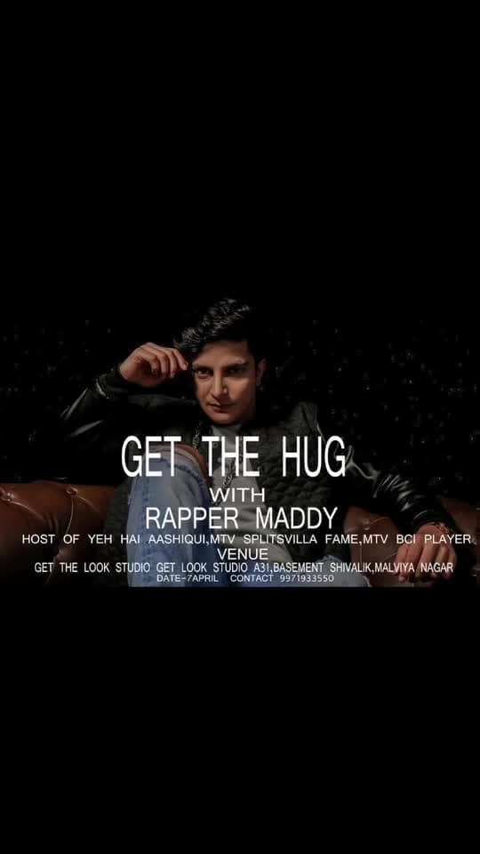 Get The Hug with Rapper Maddy .  Tag 10 people in comments and get a free invite to the event  #getthehug #rappermaddy #meet #meetandgreet #love #hug #click