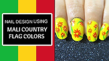 Floral Nails | Tri colours | Nail Design using Mali Country Flag Colours | Designyournailsbyisha  MALI 🇬🇳 West African country of Mali is one of the largest on the continent. For centuries, its northern city of Timbuktu was a key regional trading post and centre of Islamic culture. And my nail design is inspired by their women clothes Hope you all like it❤️  #women #womenempowerment #westafrica #respect #femalerights #womensrights #internationalwomensday #nailarttutorial  #femaleempowerment #roposonails #nailstoinspire #manicure #ishanailart #nails #designyournailsbyisha #freehandnailart #floralnails #floral #nailfashion #flagcoloursnails #roposonails #roposoblogger