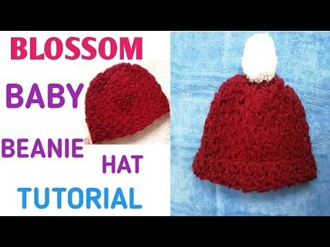 *NEW* HOW TO CROCHET BLOSSOM BABY BEANIE HAT /STEP BY STEP TUTORIAL/क्रोशिया का काम/ #umacreations