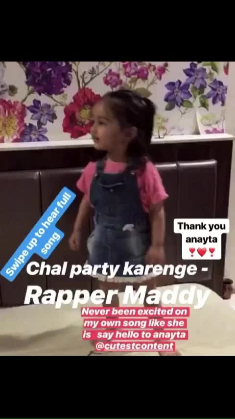 Chal party karenge - Rapper Maddy  https://youtu.be/inS312tCjY0  Dance - @cutestcontent  Choreo - Mommy Modi  #fanart #fan #love #rappermaddy #dance #cpk #music #cute #content #king #chalpartykarenge #fame #instagood #swag #follow #like #girl #mila #kids #children #amazing #happy #mother #mom