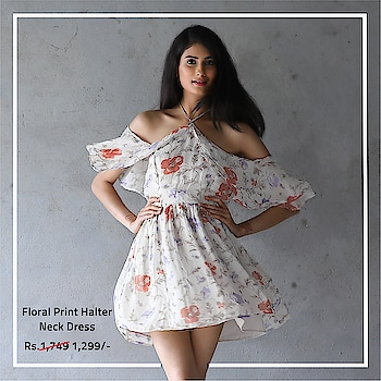 Summer-Bummer SALE for all you girls! Shop Shraddha Kapoor's exclusive apparels from Half Girlfriend only on Bollywoo.ooo. .. Product name: Floral Print Halter Neck Dress from Half Girlfriend Product Price: Rs. 1,299/- .. #bollywood #halfgirlfriend #bollywoodstyle #celebritystyle #denim #summerdress#womenfashion #actorstyle #stopthescreen #shopthescreen #bollywoo #shraddhakapoor