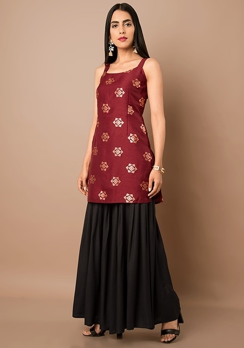 Discover timeless feminine silhouettes in rich colors   SHOP Silk Short Kurti - https://goo.gl/5fkR2o  Oxblood Foil Silk Short Kurti ₹ 1700  @Indya  #women-clothing #roposo #fashion-addict #party-edit #party #party-wear #clothes #Fashion #loveyourself #Short-Kurti #Kurti #beauty #styles #love #followme #like #fashion #Oxblood  #celebration #trending #roposogal #wow #roposolove #Summer #Wedding #Indya #traditionaldress #ethnic #Indo-Western