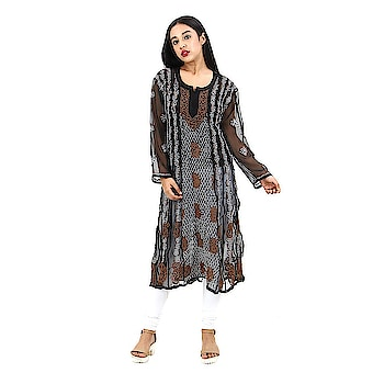 Lucknow Chikankari Embroidered Anarkali kurta For Women  Don't miss this super, amazing, stunning and stylish This Women Kurta, Made of premium quality fabric, this Kurta is highly comfortable and a perfect pick of the Fetival season.  Buy Link- https://www.amazon.in/dp/B07C5N2VXX  #kurti #anarkali #embroidered