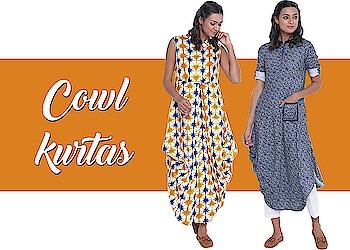 Cowl kurtas!  https://bit.ly/2J4zY9Y  #9rasa #studiorasa #ethnicwear #ethniclook #fusionfashion #online #fashion #kurta #cowl #cowlkurta