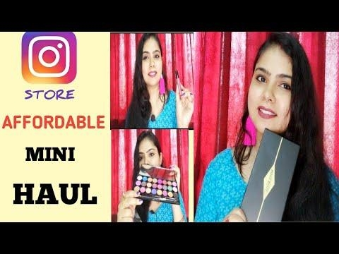 AFFORDABLE INSTAGRAM STORE HAUL..FT.JYOTIJIYASTORE/ #umavlogs #makeup