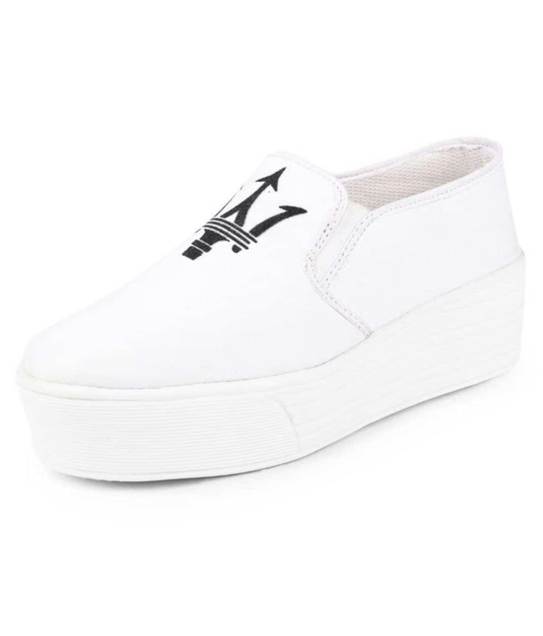 Women's Sneaker Shoes (White) ₹498 Occasion : NA Heels Height : 1 inches Material : Canvas Ideal For : Women  #sneakers #women #womenshoes #winsant #roposo #onlineshopping