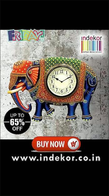 #sale #shopnow #freeshipping #indekor #apkionlineshop n get upto 65% #discount on this Maharaja #styles #designer #wallclocks now !!! #limitedstock #roposopost #trendingnow #punjab #gujarat #bihar #up #kerala #friday