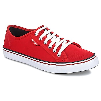#LeeParke Lace up Lifestyle Red Casual Shoes. Rubber outsole gives maximum surface traction for better grip on roads, flexibility and lasts long. https://www.amazon.in/dp/B07BYJDT3M  #Laceupshoes #casualshoes #slipon #sliponshoes #shes #sneakers #trendyshoes