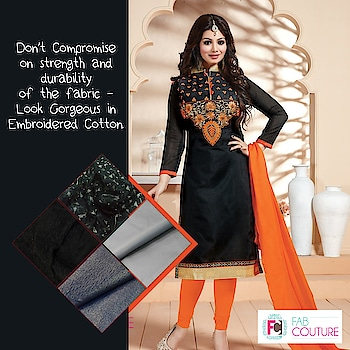 Don't compromise on #strength and #durability of the fabric with Fab Couture!!!!   Grab your fabric at : https://fabcouture.in/ #FabCouture! #DesignerFabric at #AffordablePrices  #DesignerDresses #Fabric #Fashion #DesignerWear #ModernWomen #DesiLook #Embroidered #WeddingFashion #EthnicAttire #WesternLook #affordablefashion #GreatDesignsStartwithGreatFabrics #LightnBrightColors #StandApartfromtheCrowd #EmbroideredFabrics