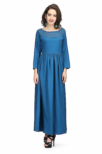 Printemps 100% Polyester Blue Crepe Stylish Dress For Women's & Girls  Material-100% Polyester crepe::Color -blue Sleeve Type:Long Sleeves ; Neck Style: Round Neck Suitable For: Girls/ladies::Fit-Regular Fit,Comfort Fit Wash care instructions: Machine Wash,Wash Cold, Do not Bleach, Tumble Dry Low DESIGN :- Occasion:- Party, Festival, weddings  Buy Now:- https://amzn.to/2BvKXZl