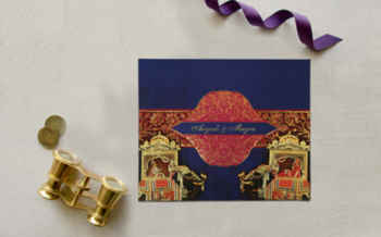 BLUE MATTE BOX THEMED - FOIL STAMPED #wedding INVITATION : CD-1830 #weddings #blue #indianweddingcards #indianweddinginvitations #weddingcardsdesigns #weddingplanning #weddingday #weddinggoals #wedding-bride