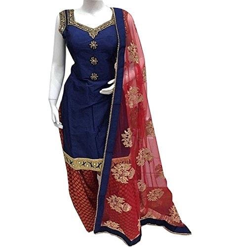 Krisha Creations Women Silk #Patiala #Salwar #Suit @ Rs.1149. Buy Now at http://bit.ly/2HQVgZa