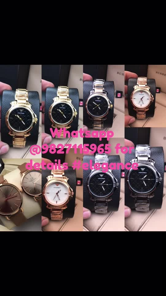 Watch collection by elegance  whatsapp @9827115965 for details