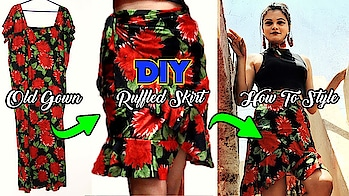 NEW DIY VIDEO (Old gown into ruffled skirt) Is up on my channel. #diy