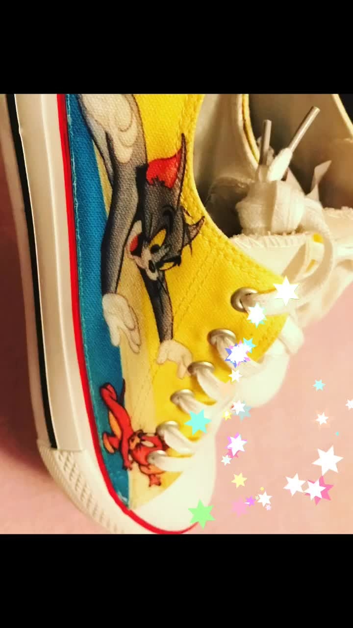 Yay ton n Jerry on my shoes #newshoes