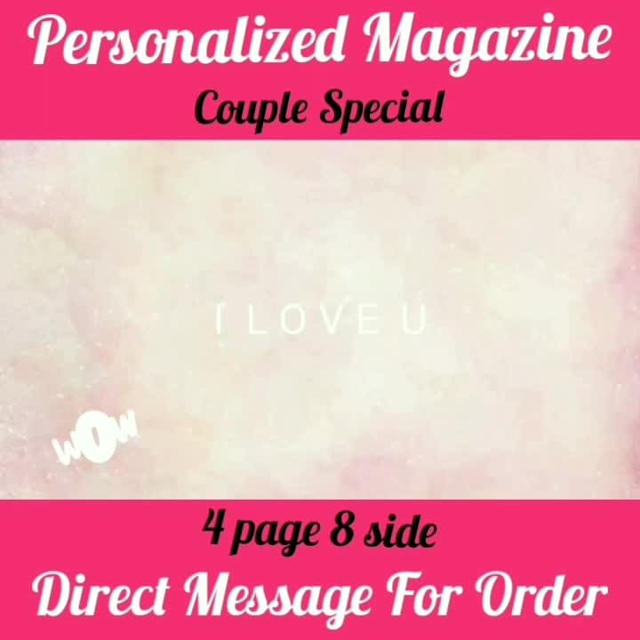 Order Done😘 Couple Special😘😍 Personalized Magazine😍 Keep Ordering😍😍 Birthday Couple Friendship Family Anniversary 4 Page and 8 Side 8 Page and 16 Side 😍😍😍 Page size A4 DM for Order . . @ghantaa #trending #treinamentofuncional  #fun #instagramers #TagsForLikes #TagsForLikesApp #food #smile #pretty #followme #nature #lol #dog #hair #onedirection #sunset #swag  #statigram #friends #hot #life #art #instahub #photo #cool #pink #bestoftheday #clouds