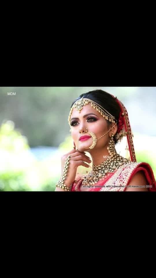 Perfect #indianbridalmakeup #makeuplook #eyemakeup #meenakshidutt #meenakshiduttmakeoversdelhi #meenakshiduttmakeovers #bridesofindia