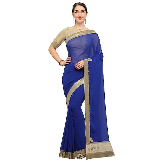 Hurry Up For Online Auction Now Start Click Here For Bid   :- http://bit.ly/2Ht2CRy  #Designer #Blue #trendylook #fashion #saree #daily #roposo #roposo-style #women-fashion