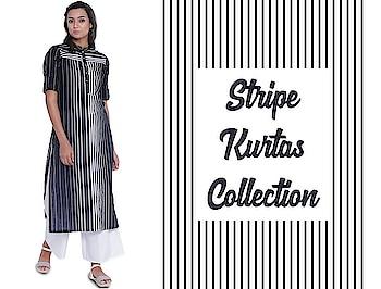 Stripe kurtas starting from 649/-  https://bit.ly/2qRGqub  #9rasa #studiorasa #ethnicwear #ethniclook #fusionfashion #online #fashion #stripes #stripekurta #kurta