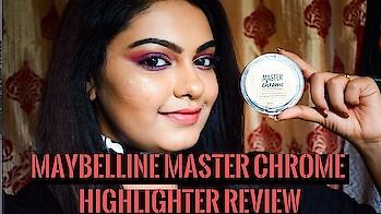 *Blinding Alert* Maybelline Master Chrome Metallic Highlighter/Illuminator Review | Maybelline India . . . #maybellineindia #maybellinenewyork #maybellinemasterchrome #masterchromehighlighter #moltengold #highlightonfleek #highlight #maybelline