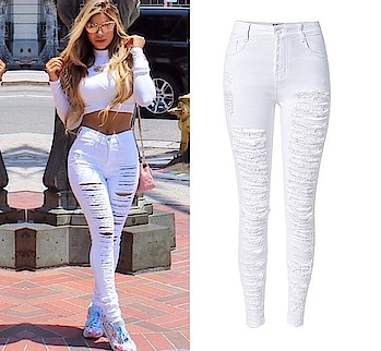 Ripped Cotton Tear Elastic Pencil Jeans Website Link- https://goo.gl/P2dQSK . . . . . #jeans # pants #bottoms #long #bollywood #shoponline #shopping #fashion #onlineboutique #fashionblogger #celebrity #fashionista #whatiwore #outfit #hollywood #fashionweek #streetstyle #fashionblog #style #streetwear #digital #dress #room #fashionblog #style #clothing #apparel #trends #girl #party