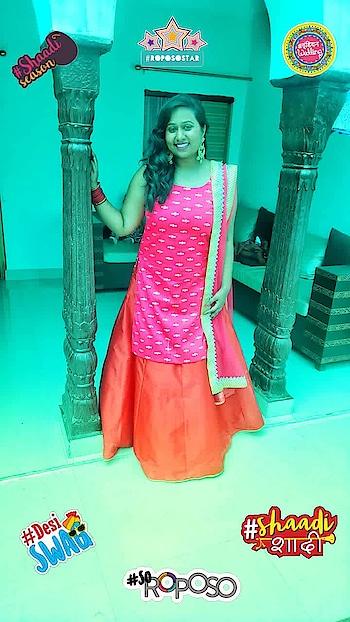 #bffwedding .... Didn't wanna experiment...so wats classier den #kurti wid #flaredskirt from #meenabazaar .... minimal #accesories #chandbaliearrings #bangles  luving d colors on me...!😊 #wedding-outfits #smilingface #morningweddings #roposostar #shaadiseason #indianwedding #soroposo #desiswag #shaadishaadi