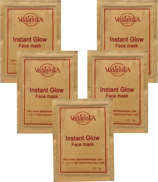 Vedantika Instant Glow Mask  (50 g)  Ideal For: Women Form: Powder Organic Type: Natural For Normal Skin Paraben Free  #beauty #products #skincare #herbal #facemask #cleanser #cream #facewash   Buy Now:- https://bit.ly/2HSlgCM