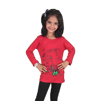 Diaz® Cotton Printed T-Shirt For Girls  Color :: Red Neck Type :: Round Material :: 100% Cotton Washing Instruction :: Hand Wash In Cold Water Please make sure that you buy our trusted Brand DIAZ® product only from Amazon  #kids #womens #clothing #western #wear #summerwear #top #legging #jegging #designer #printed #stylish #casual #gymwear #comfortable #cotton   Buy Now:- https://amzn.to/2FISTom