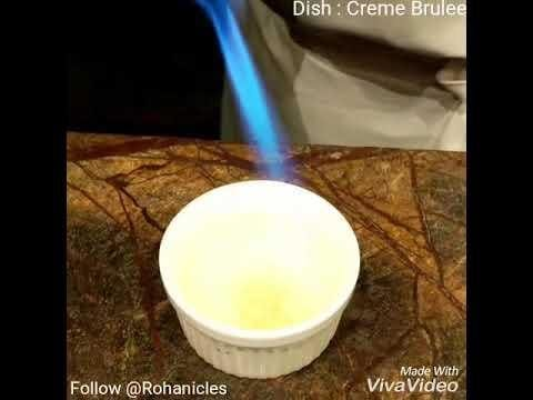 Creme Brulee - Torching !!  #Foodie #foodblogger #blogger #food #roposo