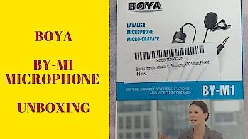 Boya Omnidirectional Lavalier Condenser Microphone - Unboxing