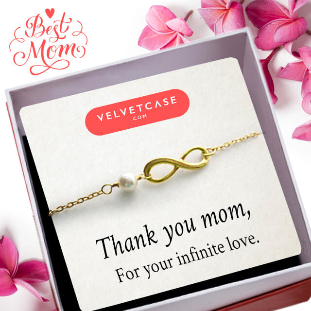 Get Pearl Infinity Bracelet FREE with your gifts for Mom!  Explore our curated collection of gifts for this Mother's Day   Shop Now http://bit.ly/2rsjsdg  #velvetcase #jewelleryoffers #jewelryoffers #mothersdaygifts #giftsformom #mothersdayoffers #goldjewellery #diamondjewellery #100gifts