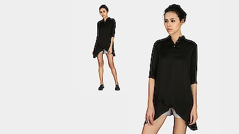 Feel cool in Summer with Double layered top paired with hot pants... https://in.samshek.com/product/detail/double-layered-top  @samshek.unicorn  #custommade #summercollection #summer #double #layered #top #blackshirt #shirtdesign #online-shopping #customized