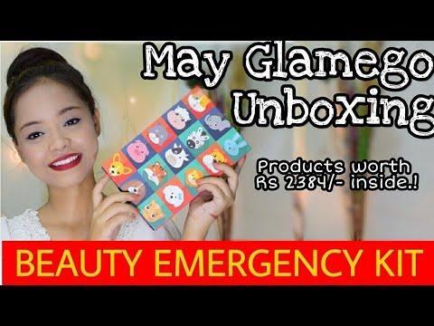 GLAMEGO MAY 2018 || BEAUTY EMERGENCY KIT || KOLKATA INDIA . . #mayglamego #glamego #unboxingandreview #glamegounboxing #glamegobox #mayglamegoboxunboxing