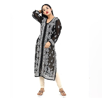 Women's Hand Embroidered Beautiful Lucknow Chikan Cotton Kurti Kurta. Make your sensual diva style by draping this stunning and comfortable Party wear Kurti. This Elegant designer Kurti's Hand Woven is a perfect fit for all parties, dream Reception, playful Sangeet, engagement, Mehendi & occasions where you want to show your appearance.  https://www.amazon.in/dp/B07BWL8Y4C  #kurti #kurta #womenkurta #ladykurta #glamerouskurti #trendykurti