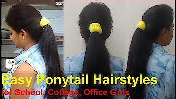 How to: Volumized Ponytail Hairstyles with Puff Without Extension for School/College/Office Girls