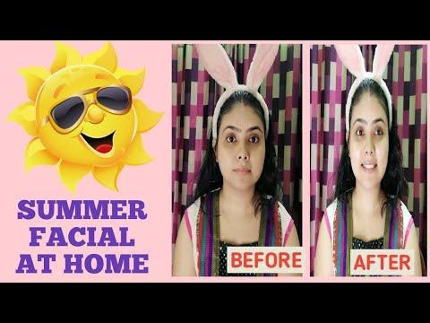 EASY SUMMER FACIAL AT HOME/SKINCARE TIPS #umavlogs #summerskincare #skincare #facial