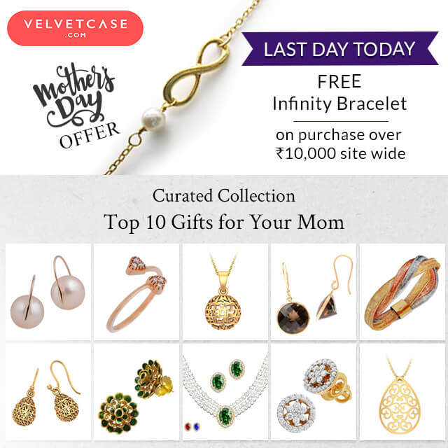 To every mom, Happy Mother's Day!  Last Day to get the Pearl Bracelet FREE.  It's never too late to get a gift for Mom!!  Shop Now http://bit.ly/2IgCidV  #velvetcase #jewelleryoffers #jewelryoffers #mothersdaygifts #lastminutegifts #giftsformom #mothersdayoffers #goldjewellery #diamondjewellery #100gifts