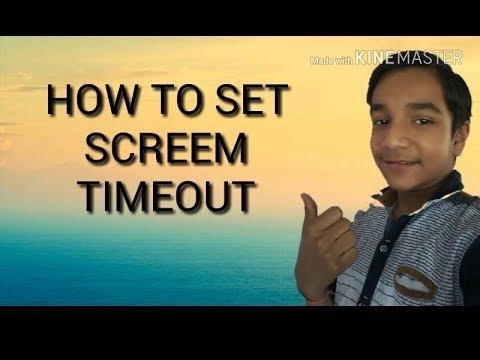 How to set screen timeout   Technical Yash aggarwal