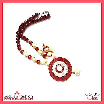 Traditional Takkar Pendant Necklace #beadsnfashion  #takkarwork #glassbeadsnecklace #handmadejewellery #indianjewellery #designerjewellery #designerjewelry #glassbeadnecklace #fashionjewellery #neckpiece #necklace #traditionaljewellery #traditionaljewelry #handcraftedjewelry #handcraftedjewellery  Buy This  https://bit.ly/2Ko3kkZ For 400/-