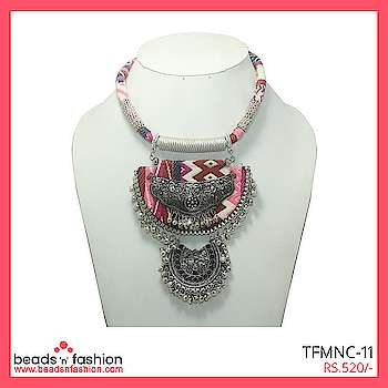 Multi colored tribal statement necklace #beadsnfashion #statementnecklace #statementjewellery #necklace #ghungroonecklace #germansilver #designerjewellery #oxidisedsilver #multicolournecklace #indianjewellery #handmadejewellery #fashionjewellery  Buy This https://bit.ly/2JCAHPF For 520/-
