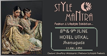 Hello Queens and Princesses of Jharsuguda. Yes!! The wait is over now beauties. After so many requests and huge response for having an event at Jharsuguda, We have brought you Style Mantra Fashion and Lifestyle Exhibition at your city. Two days full of fun shopping with exclusive range of Apparels, Fashion Accessories, Footwear, Coutures and much more to fill your bags with. Hurry and shop from our varied range of products. #stylemantra #fashion #lifestyleexhibition #accessorieslove #women-apparels #jharsuguda #odisha #style #mantra