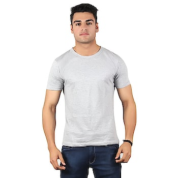 Diaz Soft Cotton Round Neck T-Shirt For Men  Color: Grey Fabric: 100% Cotton Bio Washed Washing Instructions: Hand Wash In Cold Water Neck: Round Neck Sleeve: Half Sleeve  #men #women #clothing #tshirt #top #jegging #legging #capri #stylish #designer #comfortable #summer #clothes #gymwear   Buy Now:- https://amzn.to/2KN7LGa