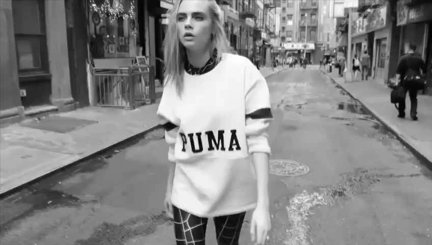 one of my favourite ad of #puma with #caradelevigne #stylistdiaries  #stylistindia #campaign