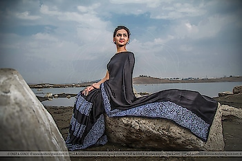 Aratrika Saree Price: 9,498/-; US$ 143.00 ********************************************** Please visit: https://www.eastandgrace.com/products/aratrika-black-silk-satin-saree  Featuring the Aratrika, black pure satin embroidered saree with a thick, hand-embroidered, white, spring floral detailing along a border. The black, satin blouse has a halter neckline and charming tie-back, large bow. Your key to winning hearts with black and white. The saree comes with an unstitched, black, satin blouse material and an unstitched matching lycra-satin petticoat fabric.  Subscribe to our newsletter on our website to get latest updates on EAST & GRACE sarees.  For order related inquiries, please reach out to us at orders@eastandgrace.com.  For all other questions/comments/concerns or just some cool banter, get in touch at care@eastandgrace.com and someone will be available to assist you!  We are humbled by the tremendous response from different parts of the world. It's what keeps us going!  More beautiful designs coming soon your way… :)  With love, EAST & GRACE www.eastandgrace.com  #eastandgrace #newcollection #saree #blouse #happyshopping #beautiful #indian #sari #desi #lehenga #ribbonembroidery #handembroidery #love #indianwedding #onlineshopping #indianfashion #nature #fashion #fashionista #trendy #beautyvblogger #diy #delhifashion #designer #photography #fashionphotography #naturephotography #black #puresatin #satin #lace