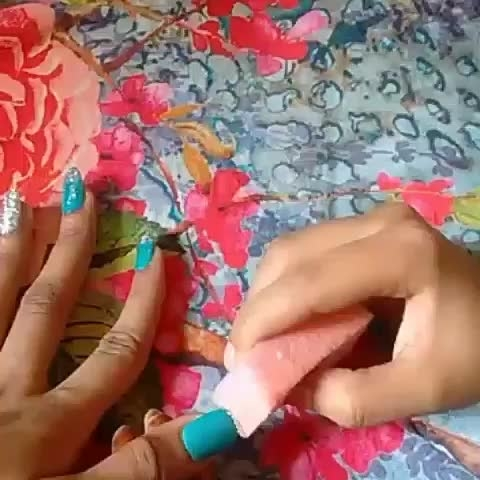 NailArt Tutorial #nail art tutorials #tutorialvideo #naillover #sponge_nailart #lovelove #happymode #nail-addict #nailartdesigns #sundaymood #roposo-mood #followme #featurethisvideo #different-is-beautiful follow@_thenailtrail_ on Instagram